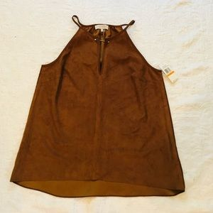 1.STATE**Brown Suede Look Top**Small**$89